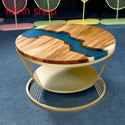 ★★高級サイドテーブル★★ くるみの木 胡桃 ローテーブル センターテーブル  ラウンドサイドテーブル コーヒーテーブル d0014-2_画像1