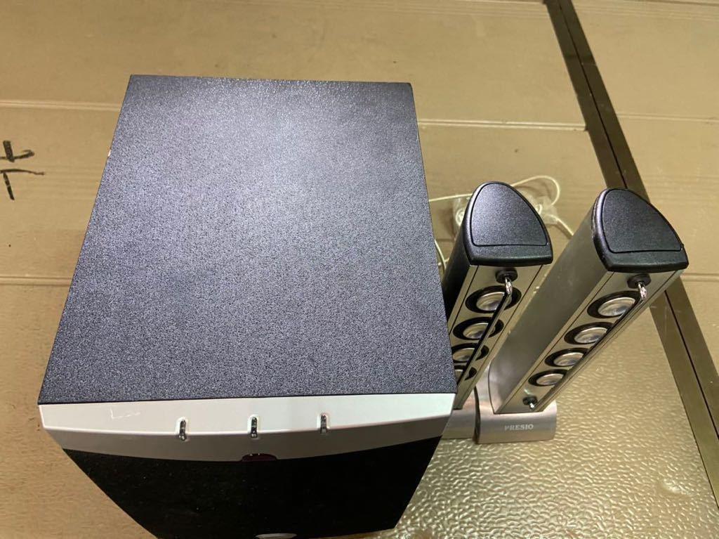 PRESIO スピーカーセット STANDBY システム 中古 通電のみ確認済 動作未確認の為 ジャンク出品_画像4