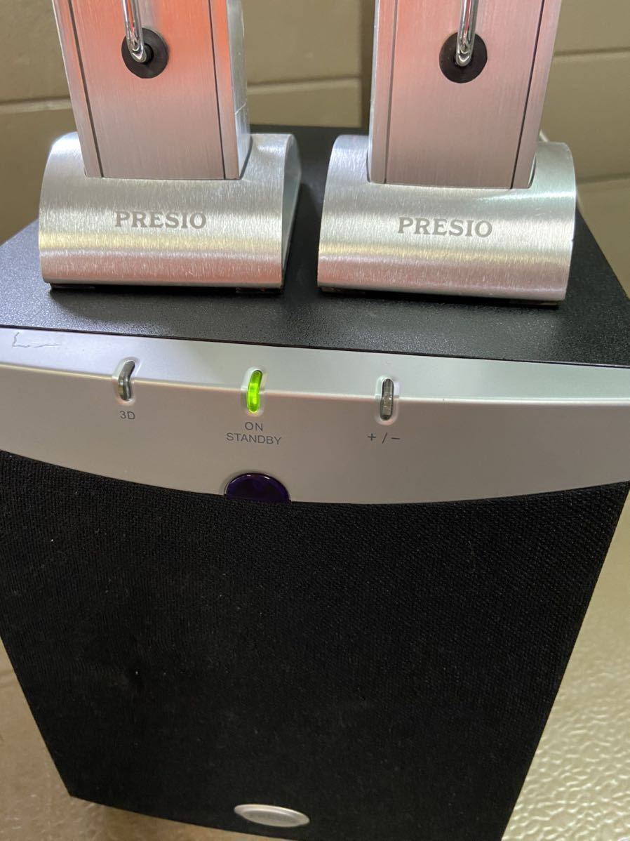 PRESIO スピーカーセット STANDBY システム 中古 通電のみ確認済 動作未確認の為 ジャンク出品_画像2