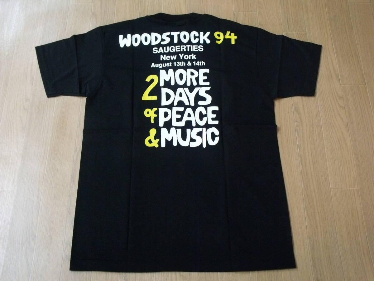 1994 WOODSTOCK USA製 ロックフェスティバルTシャツ 新品 ブラック L _画像6
