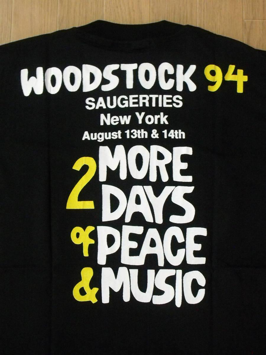 1994 WOODSTOCK USA製 ロックフェスティバルTシャツ 新品 ブラック L _画像7