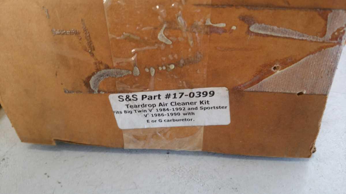 未使用品 S&S ティアドロップ エアークリーナー キット E G EVO エボ エボリューション 17-0399 BT XL FX FL ソフテイル スポーツスター_画像10