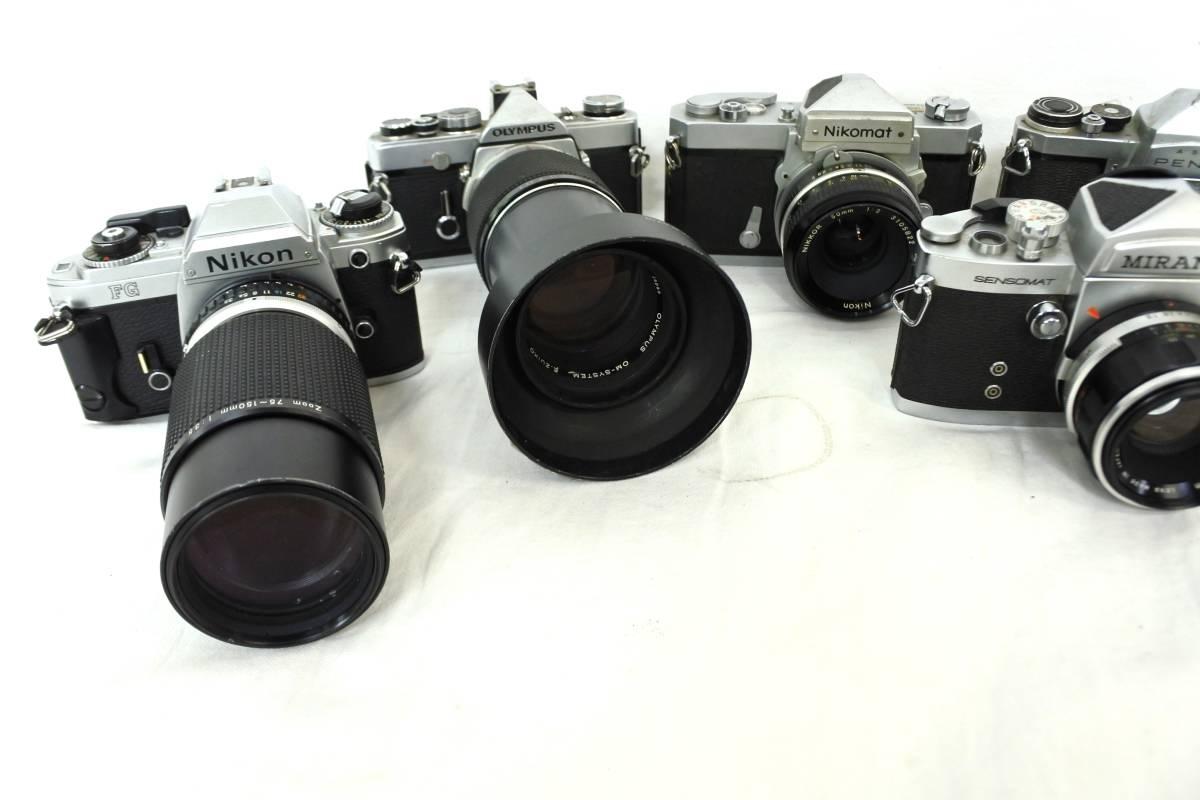 【ジャンクカメラまとめ売り】MF一眼レフ/6台/⑥/Canon/203176/OLYMPUS/Nikon/PENTAX/等_画像2