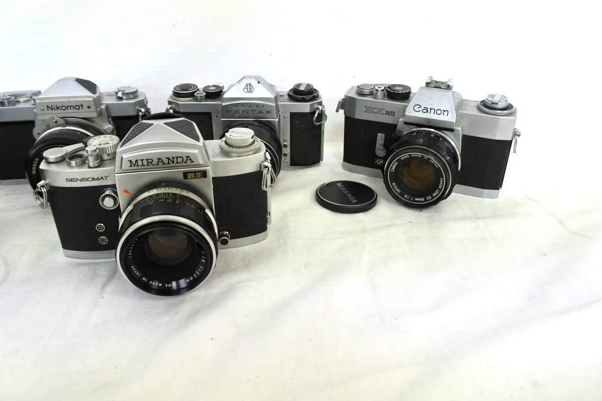 【ジャンクカメラまとめ売り】MF一眼レフ/6台/⑥/Canon/203176/OLYMPUS/Nikon/PENTAX/等_画像3