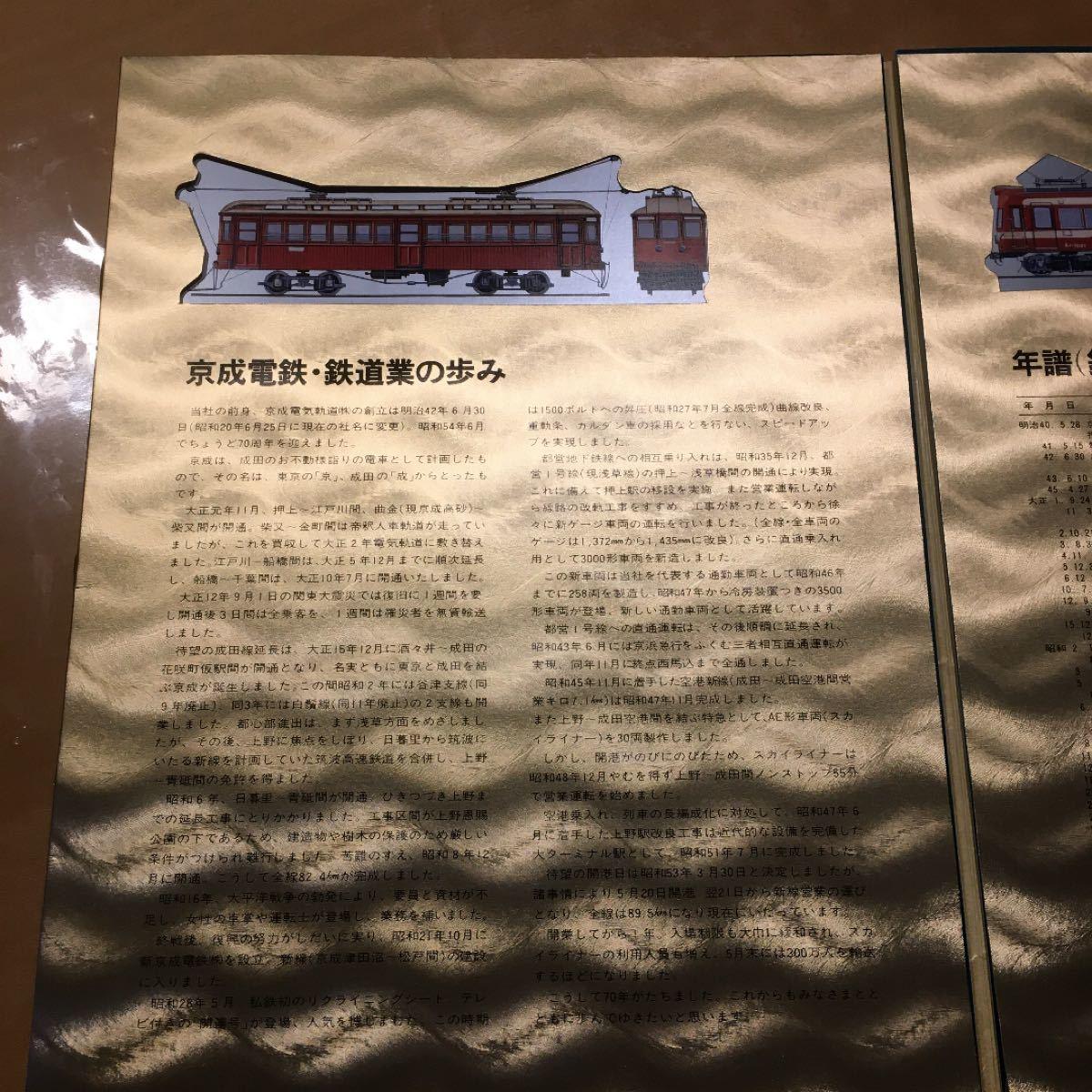 記念切符 京成電鉄創立70周年記念乗車券、特別黄金ファイル