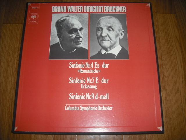 独CBS S 77401 ワルター指揮/ブルックナー交響曲4・7・9番 青盤 3LPbox_画像1