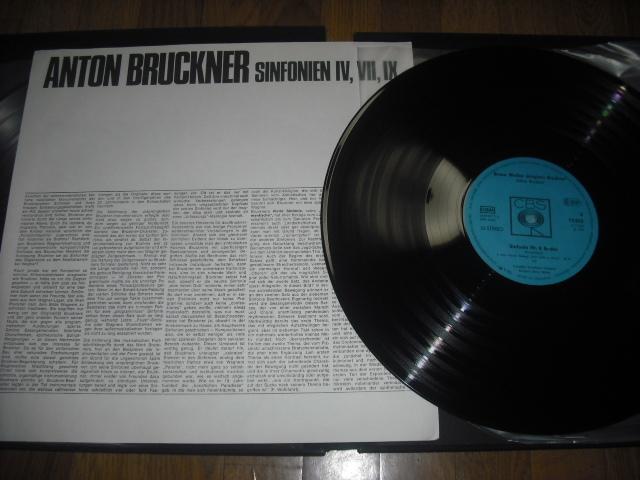 独CBS S 77401 ワルター指揮/ブルックナー交響曲4・7・9番 青盤 3LPbox_画像2