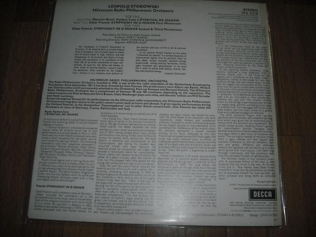 英DECCA PFS4218 ストコフスキー指揮/フランク交響曲 P4S small 赤白盤 優秀録音盤 _画像2