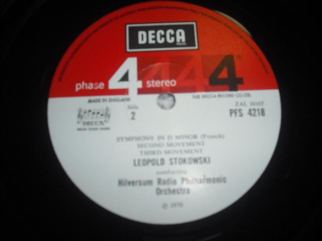 英DECCA PFS4218 ストコフスキー指揮/フランク交響曲 P4S small 赤白盤 優秀録音盤 _画像3