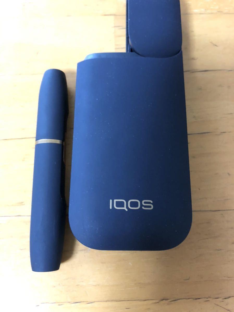 ★ IQOS 2.4 plus ネイビー ホルダー&チャージャー、中古品、動作確認済み、送料無料_画像2