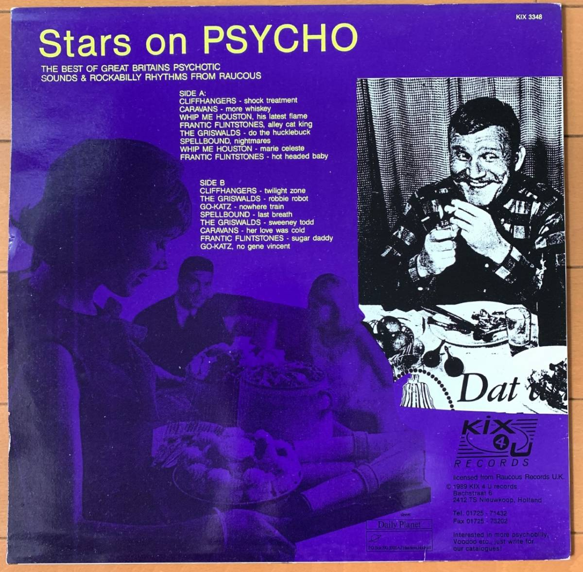 【値下】V.A. サイコビリー Stars on PSYCHO LP ロカビリー KIX4U CLIFFHANGERS,WHIP ME HOUSTON,ネオロカGO-KATZ,THE GRISWALDS,CARAVANS_画像2