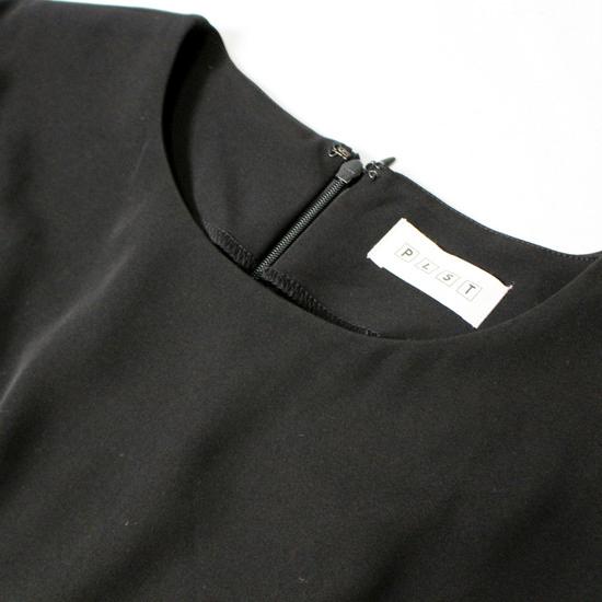 美品 セオリー PLST プラステ 柔らか ストレッチ スーツ生地 綺麗め ワンピース S 20D06_画像2