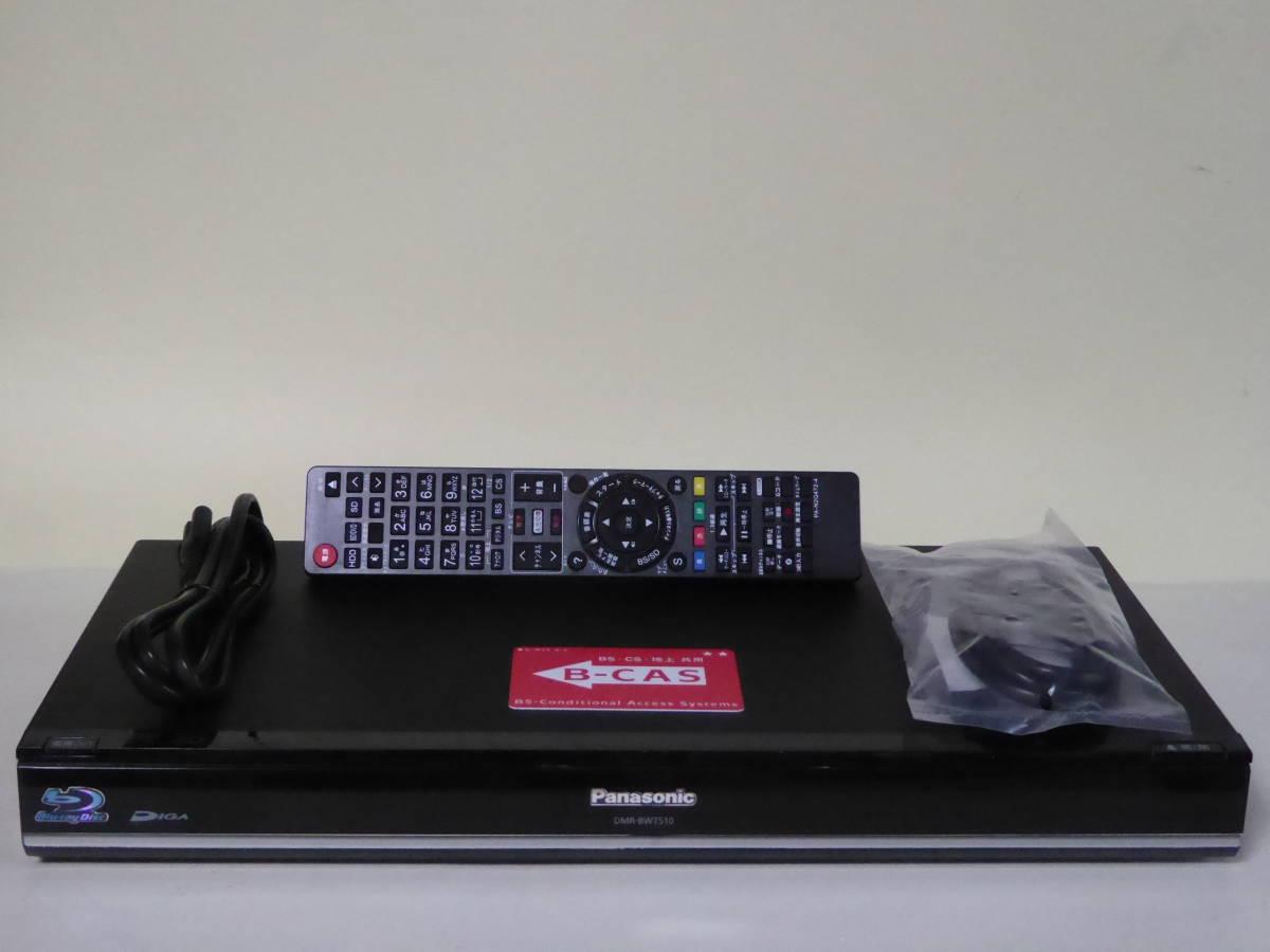 ★【500GB⇒2TB HDD換装済】 Panasonic DIGA DMR-BWT510 動作品 ★