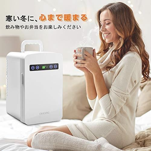 OMORC 保冷庫 冷蔵庫 小型 冷温庫 10L ミニ冷蔵庫 -9℃~60℃ 保温・保冷両用 保冷ボックス お弁当 家庭 車載 AC DC 電源輸入 軽量_画像3