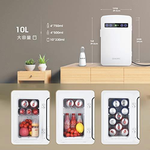OMORC 保冷庫 冷蔵庫 小型 冷温庫 10L ミニ冷蔵庫 -9℃~60℃ 保温・保冷両用 保冷ボックス お弁当 家庭 車載 AC DC 電源輸入 軽量_画像2