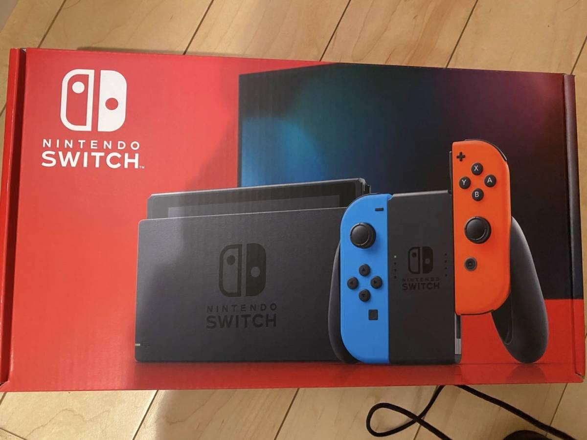 「Nintendo Switch Joy-Con(L)ネオンブルー/(R)ネオンレッド バッテリ ー持続時間が長くなった新モデル [Nintendo Switch本体]」_画像1