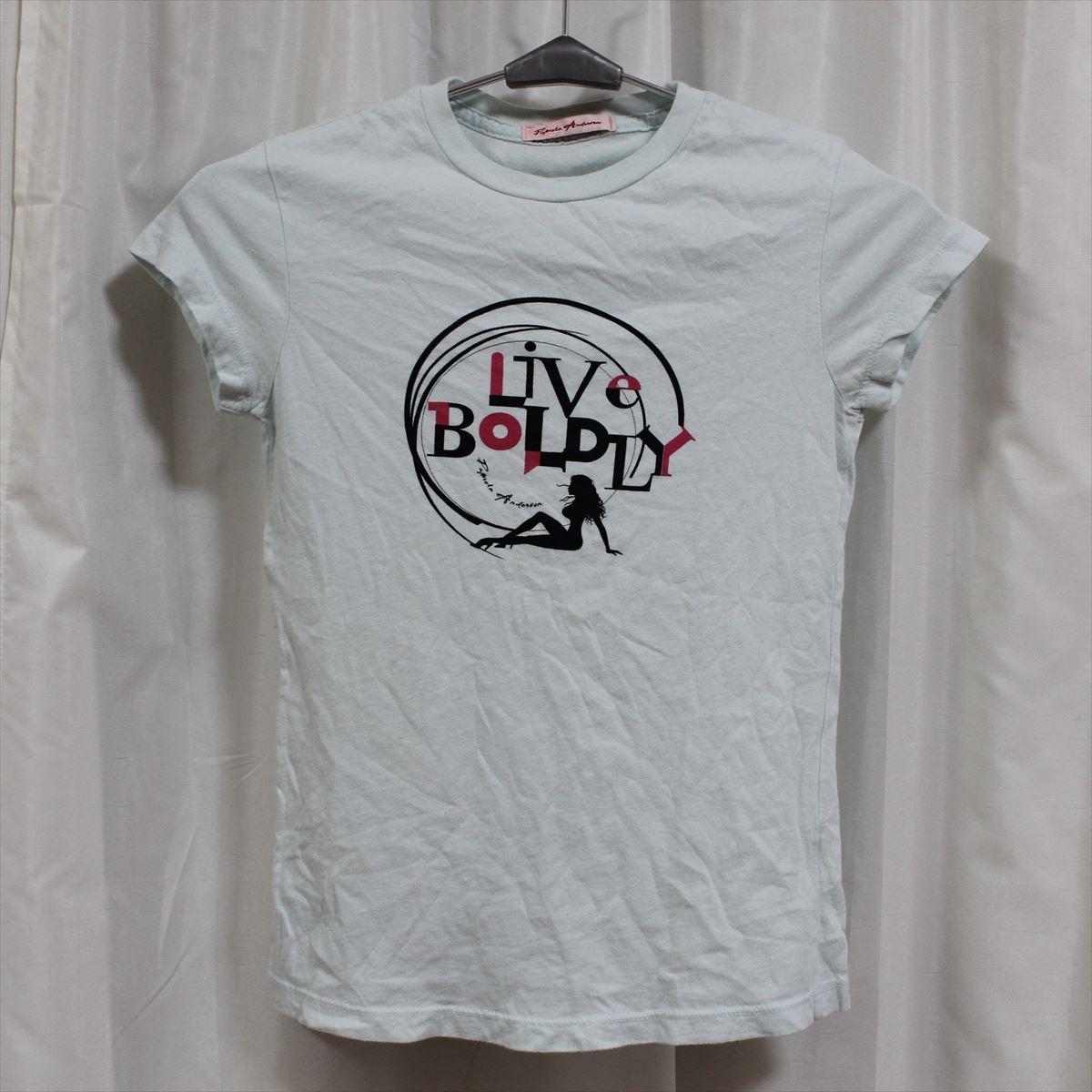 パメラアンダーソン Pamera Anderson レディース半袖Tシャツ ライトブルー Sサイズ アウトレット_画像1