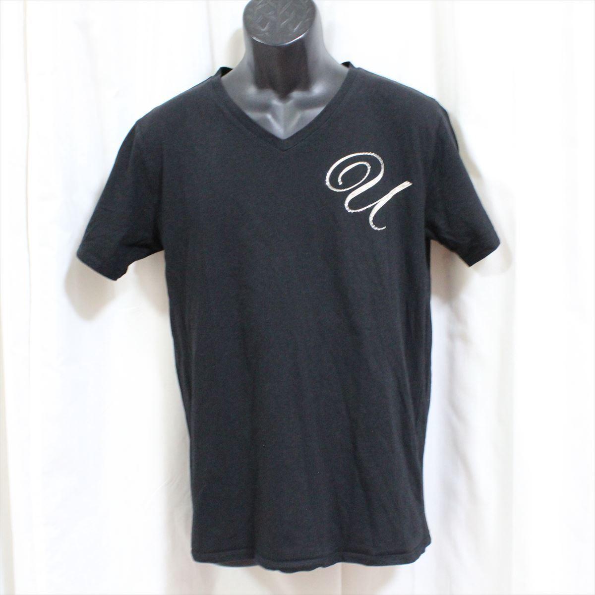 エドハーディー ED HARDY メンズ半袖VネックTシャツ ブラック Lサイズ 新品 黒_画像1