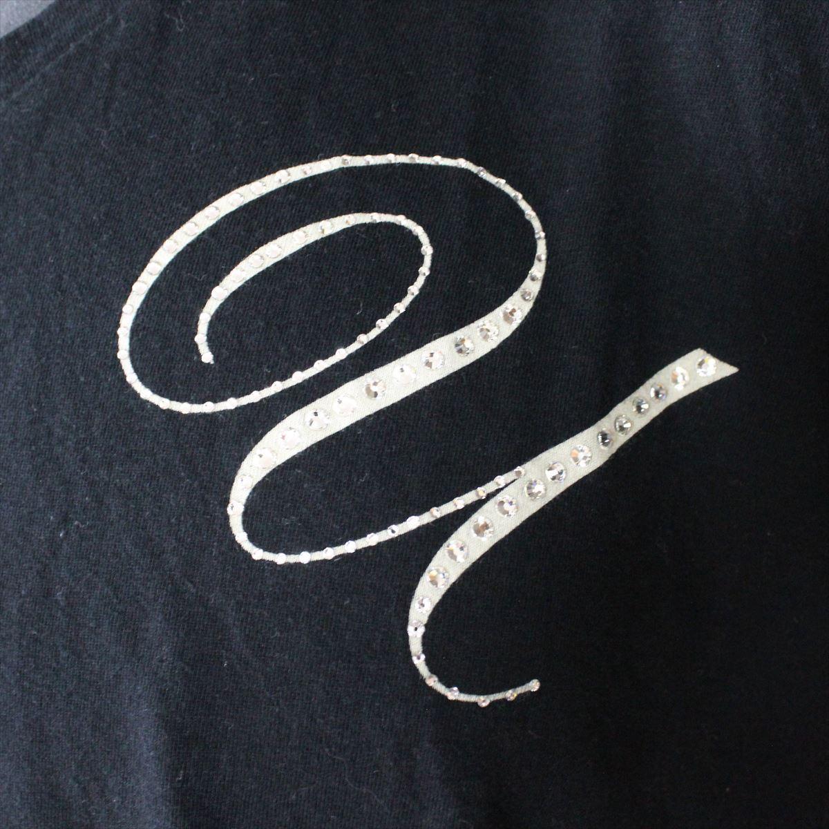 エドハーディー ED HARDY メンズ半袖VネックTシャツ ブラック Lサイズ 新品 黒_画像2