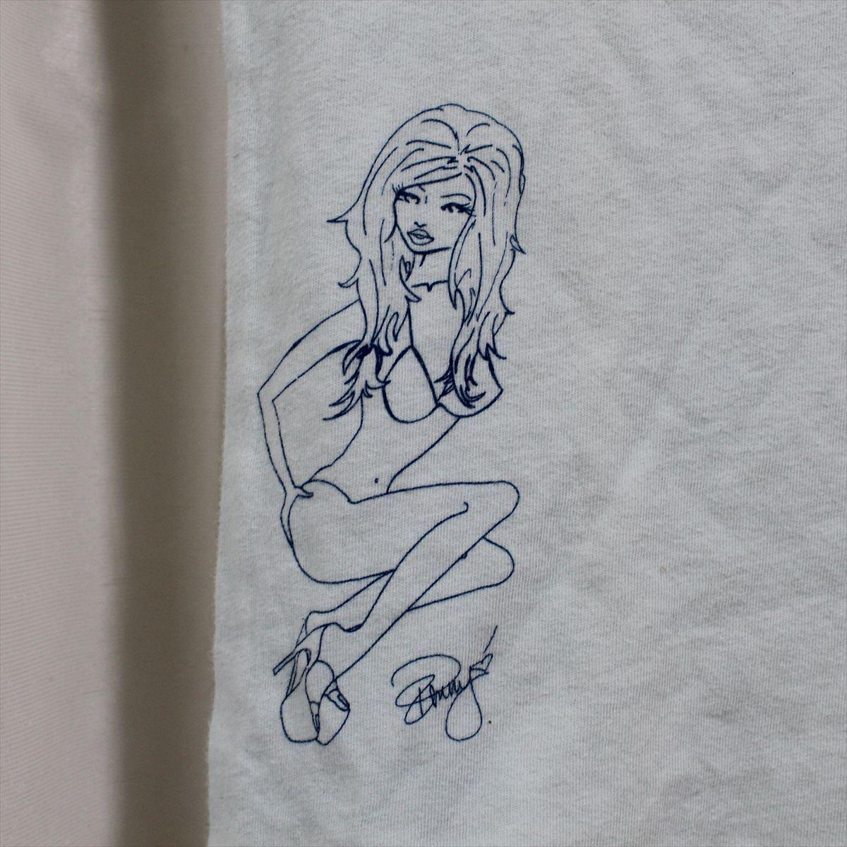 パメラアンダーソン Pamera Anderson レディース半袖Tシャツ ライトブルー Sサイズ アウトレット 新品_画像2