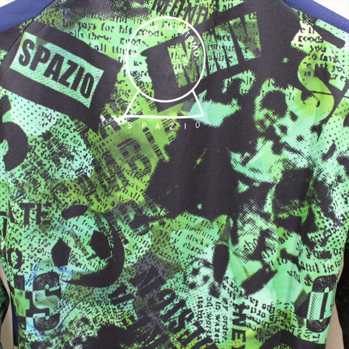 SPAZIO スパッツィオ メンズ長袖シャツ グリーン Oサイズ 新品 フットサル ロングスリーブ 吸水速乾 UVケア_画像5