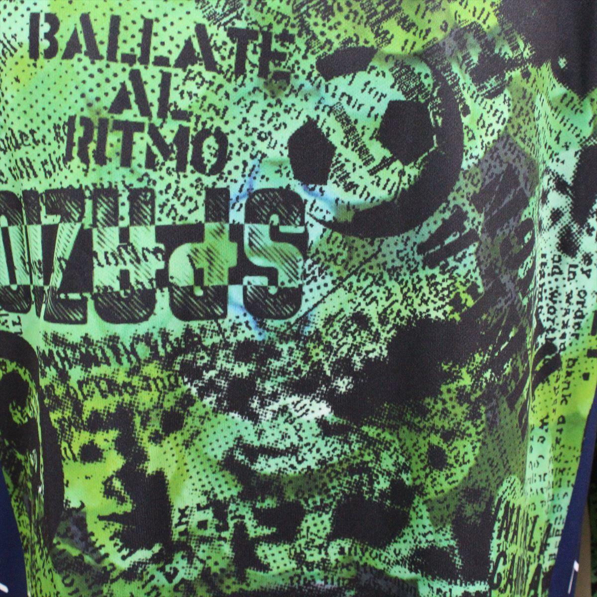 SPAZIO スパッツィオ メンズ長袖シャツ グリーン Oサイズ 新品 フットサル ロングスリーブ 吸水速乾 UVケア_画像3