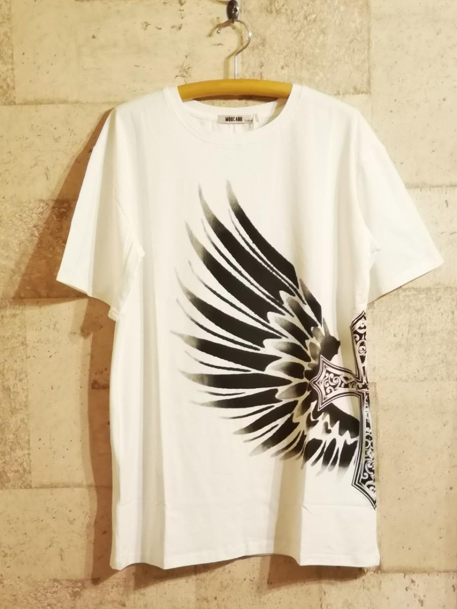 【ユニセックス】クロスエストック☆オーバーサイズTシャツ☆ホワイト【L】