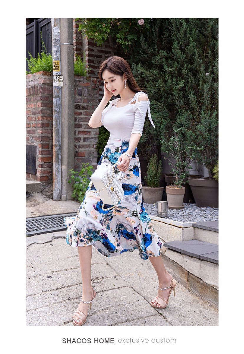 ワンピースドレス 2点セットワンピース 花柄 トップス スカート