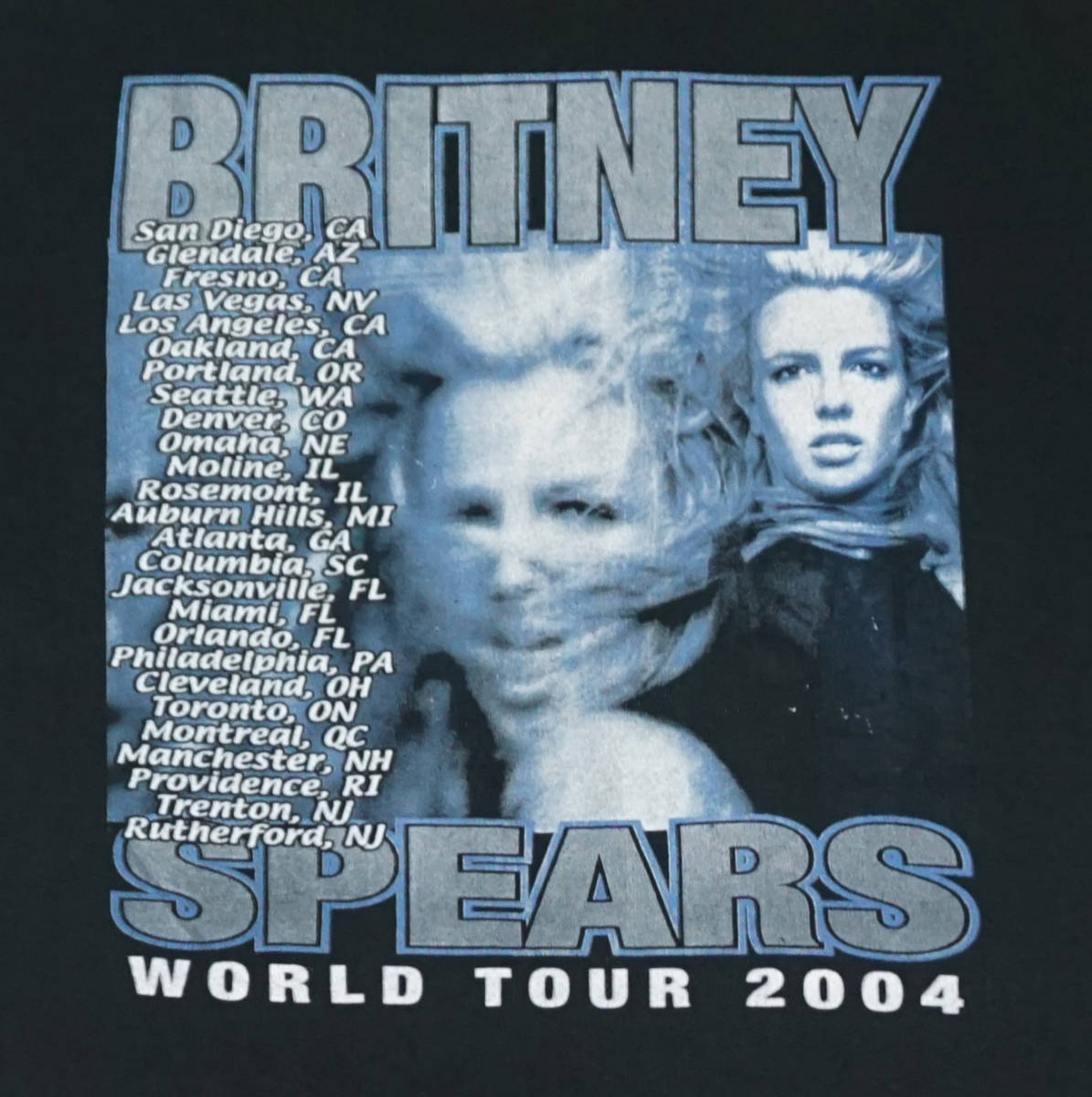 激レア! 2004 BRITNEY SPEARS ツアー Tシャツ JANET JACKSON RIHANNA LIL KIM AALIYAH MARIAH CAREY BRANDY NICHKI MINAG KATY PERRY_画像5