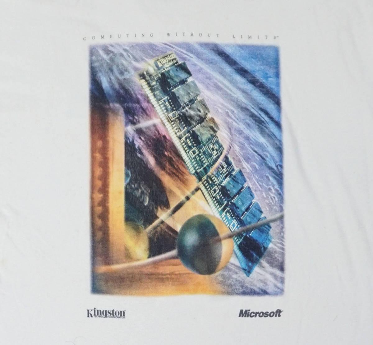 激レア! 90's USA製 MICROSOFT 『COMPUTING WITHOUT LIMITS』 Tシャツ BILL GATES IBM APPLE MAC MACINTOSH IPOD NINTENDO 任天堂 PAC-MAN_画像2