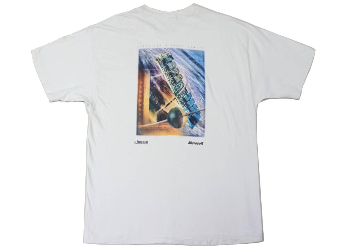 激レア! 90's USA製 MICROSOFT 『COMPUTING WITHOUT LIMITS』 Tシャツ BILL GATES IBM APPLE MAC MACINTOSH IPOD NINTENDO 任天堂 PAC-MAN_画像1