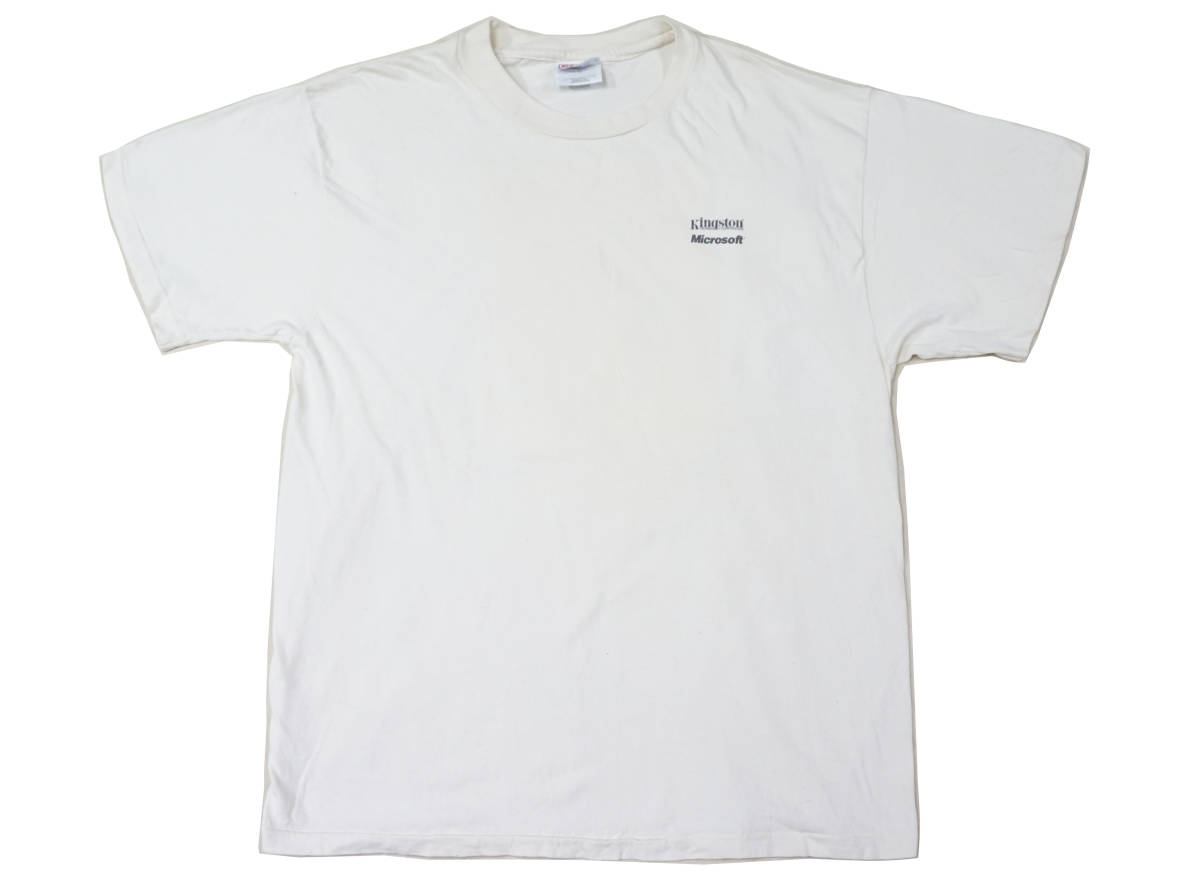 激レア! 90's USA製 MICROSOFT 『COMPUTING WITHOUT LIMITS』 Tシャツ BILL GATES IBM APPLE MAC MACINTOSH IPOD NINTENDO 任天堂 PAC-MAN_画像4