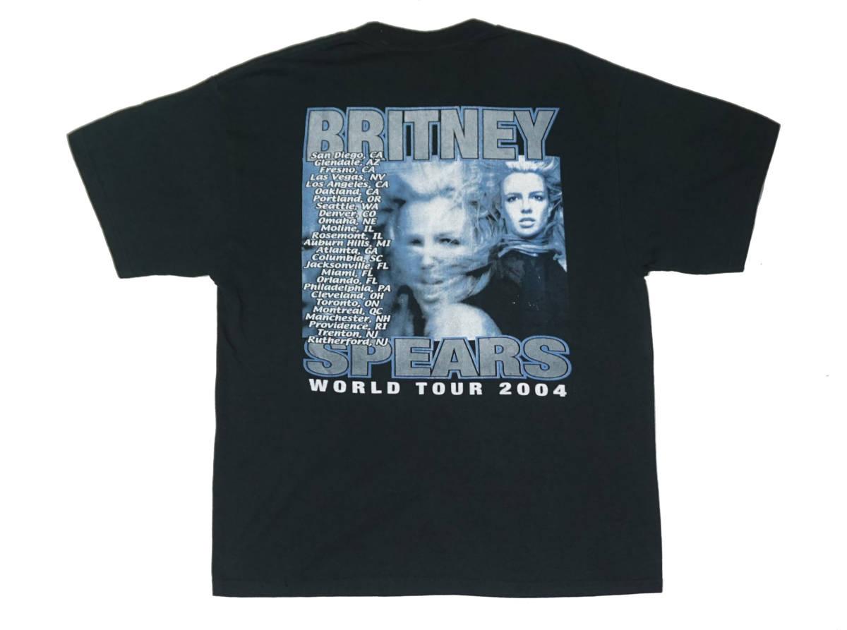 激レア! 2004 BRITNEY SPEARS ツアー Tシャツ JANET JACKSON RIHANNA LIL KIM AALIYAH MARIAH CAREY BRANDY NICHKI MINAG KATY PERRY_画像2