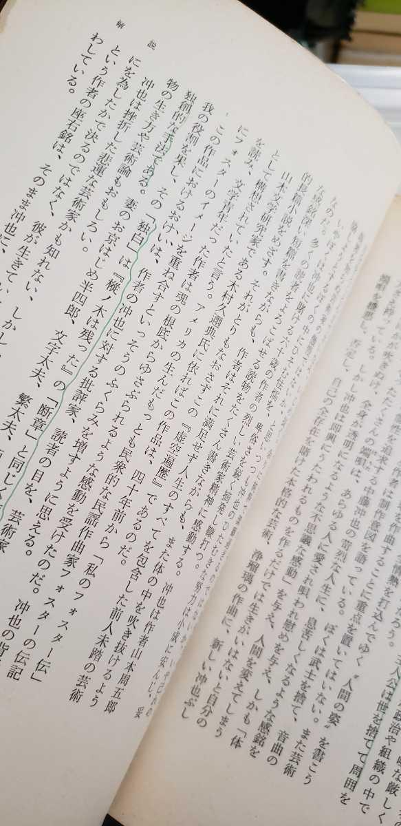 【初版】虚空遍歴 山本周五郎 1969 新潮社【管理番号mstcp本0705】訳あり_画像3