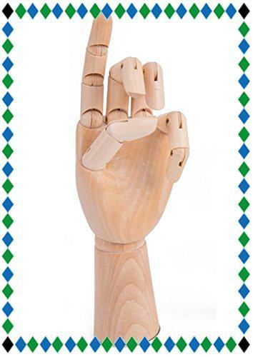 木製 デッサン ハンド モデル 手 ポーズ 人形 参考デッサンカット付き 人体 模型 クロッキー 素描 マネキン トルソー イラス_画像1