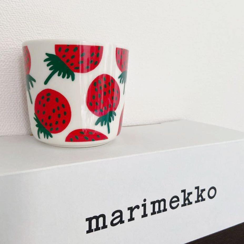 【新品/1個】ラスト1/マリメッコ マンシッカ ラテマグ/ marimekko mansikka カップ ラテ マグ 食器 コップ 苺 いちご イチゴ ストロベリー_画像1