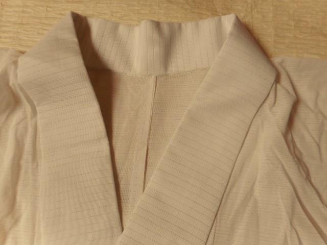 ▼§624§ 夏用単衣長襦袢・絽・化繊《白・半衿付き・おススメ》身丈126.5㎝_画像2