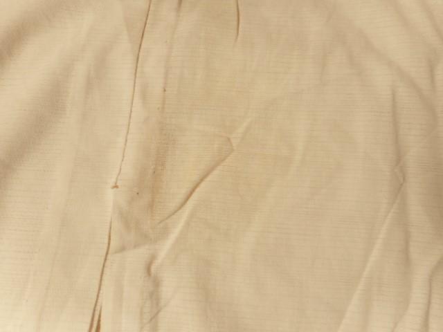 ▼§624§ 夏用単衣長襦袢・絽・化繊《白・半衿付き・おススメ》身丈126.5㎝_画像5