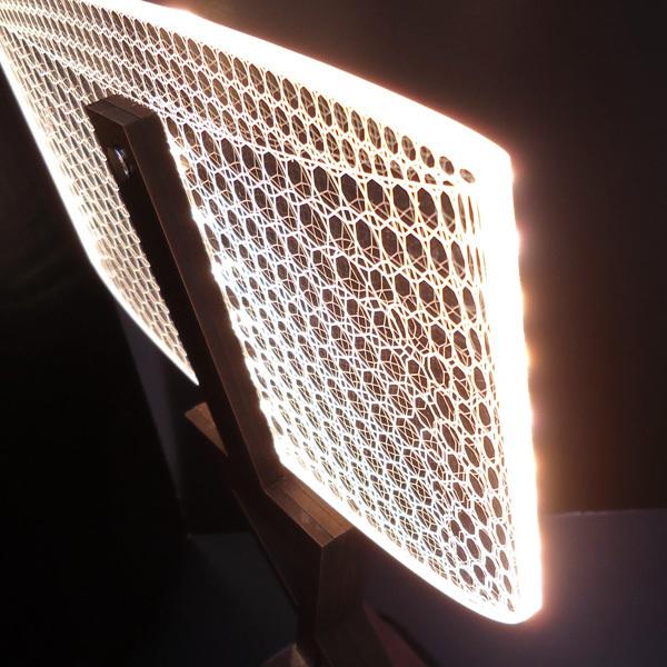 訳あり テーブルランプ USB電源【12332】LED 3Dアートランプ/10э_画像4