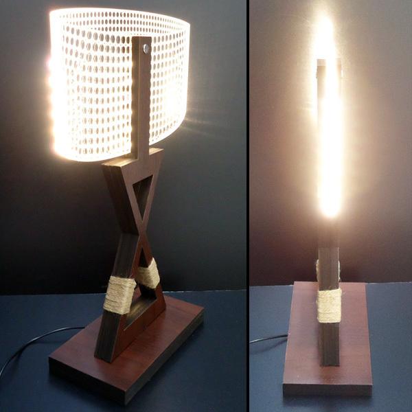 訳あり テーブルランプ USB電源【12332】LED 3Dアートランプ/10э_画像3