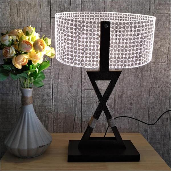 訳あり テーブルランプ USB電源【12332】LED 3Dアートランプ/10э_画像7