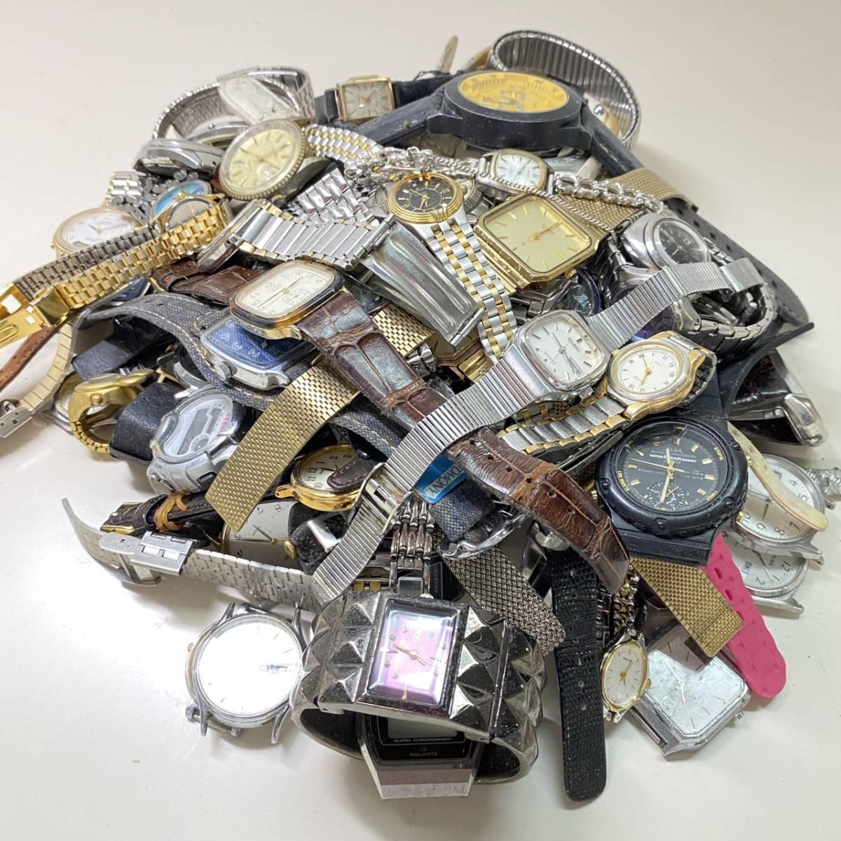 【腕時計まとめ】SEIKO CASIO CITIZEN 他多メーカー メンズ レディース 約118本 セット ジャンク品有り 大量 1円スタート