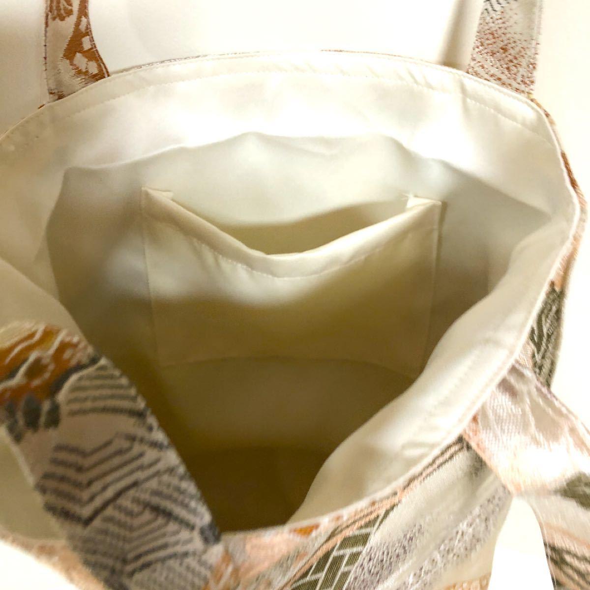 着物帯リメイク 手提げバッグ