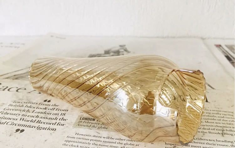 《送料無料》【ルミエールランタンに使える波模様の琥珀色のグローブ】coleman コールマン ホヤ スペア キャンプ キャンドル トーチ