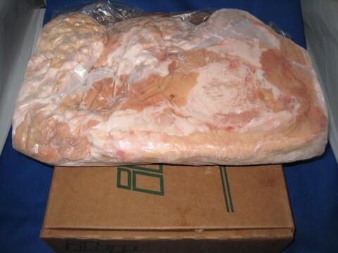 ◆直送!! アメリカ産!! 新鮮!! 冷蔵!! 豚直腸 5kg!! US産 IBPポーク 白モツ てっぽう レクタム 直腸◆_業務価格にて!!新鮮な豚直腸!!