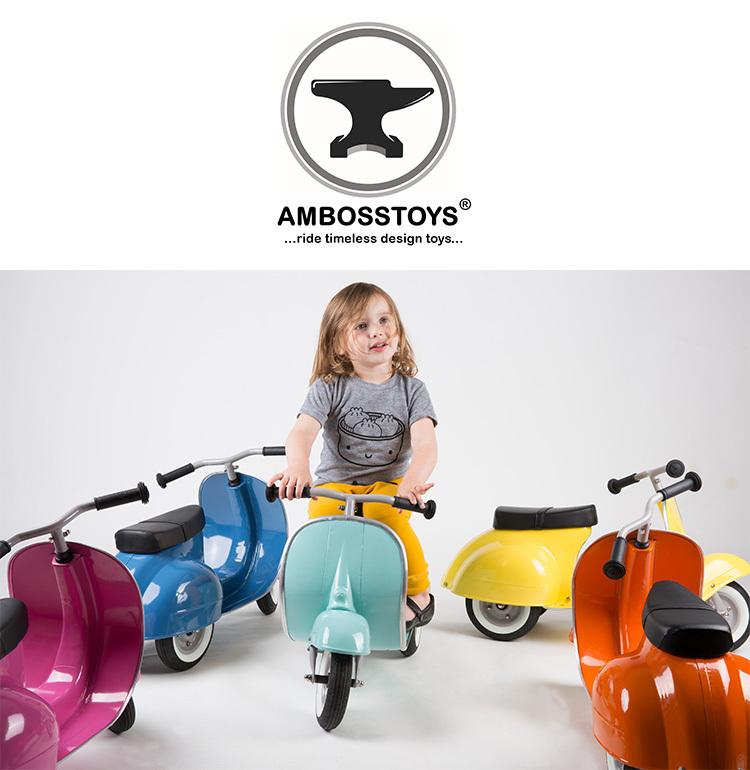 Ambosstoys  ミント プリモ ライドオン クラシック 3輪 スクーター バランスバイク オートバイ 足けり乗用玩具 Vespa ディスプレイ