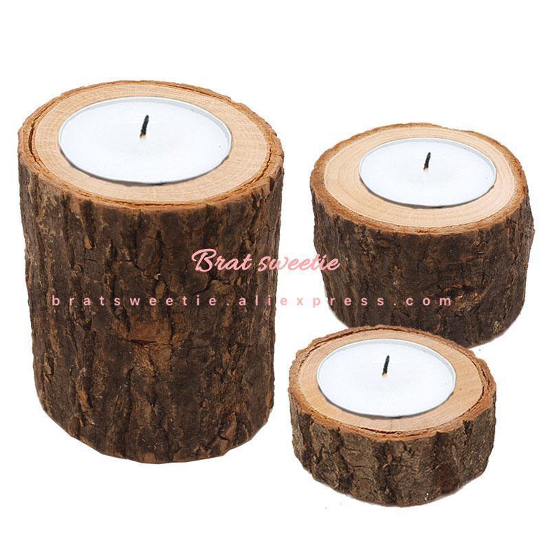 木製燭台素朴な結婚式のセンターピースの結婚式のテーブルデコレーションラマダンパーティー天然木キャンドルホルダースタンド_画像2