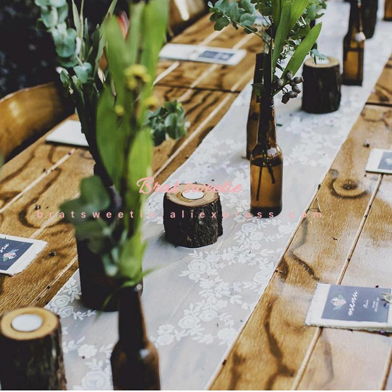 木製燭台素朴な結婚式のセンターピースの結婚式のテーブルデコレーションラマダンパーティー天然木キャンドルホルダースタンド_画像4