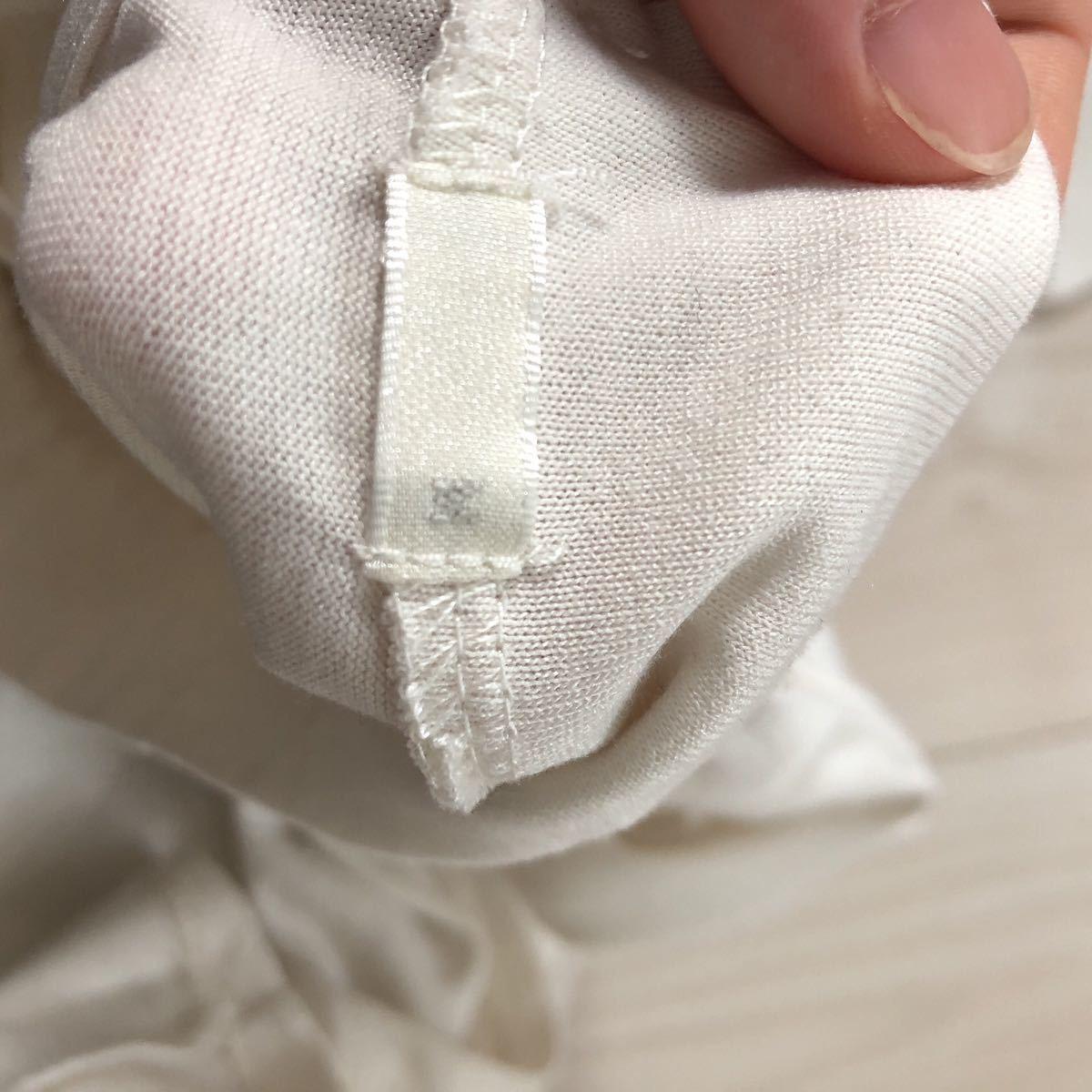 長袖Tシャツ トップス プチハイネック パール ホワイト