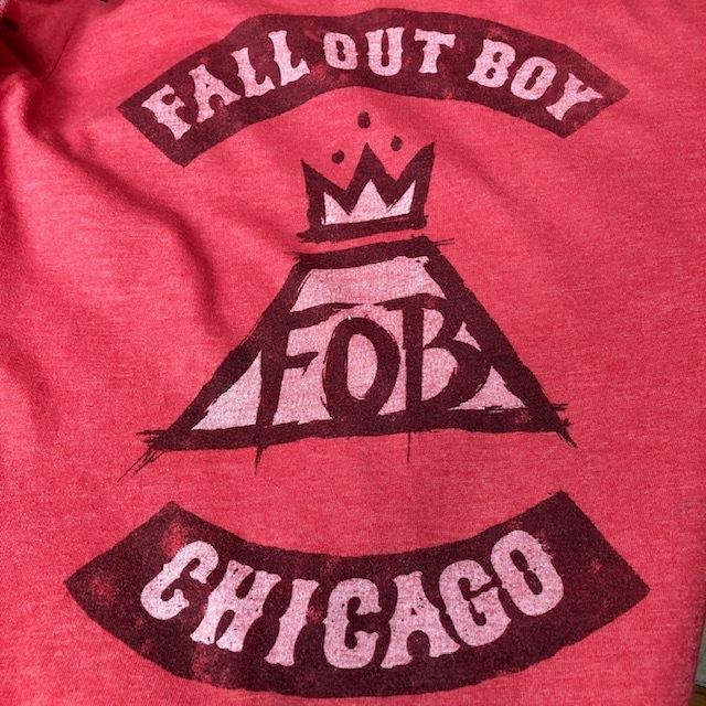 バンドT・ロックT USA古着 FALL OUT BOY Tシャツ L フォールアウトボーイ オールド ヴィンテージ アメリカ古着 アースカラー ●38
